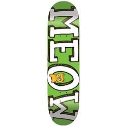 Meow Logo Green Mini 7.5 Skateboard Deck