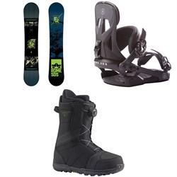 Rome Factory Rocker Snowboard  + Arsenal Snowboard Bindings  + Burton Highline Boa Snowboard Boots 2017