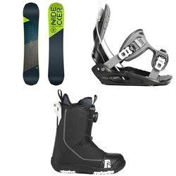 Nidecker Prosper Snowboard - Big Kids' ​+ Flow Micron Youth Snowboard Bindings - Kids' ​+ Nidecker Micron Boa Snowboard Boots 2019