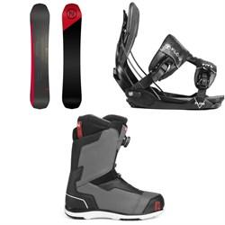 Nidecker Platinum Snowboard + Flow Five Fusion Snowboard Bindings + Nidecker Aero Boa Coiler Snowboard Boots 2019