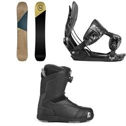 Nidecker Escape Snowboard + Flow Five Fusion Snowboard Bindings + Nidecker Aero Boa Coiler Snowboard Boots