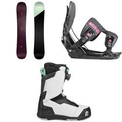 Nidecker Venus Snowboard - Women's + Flow Minx Fusion Snowboard Bindings - Women's + Nidecker Onyx Boa Coil Snowboard Boots - Women's 2019