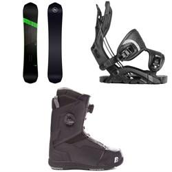Nidecker Rave Snowboard + Flow Fuse Fusion Snowboard Bindings + Nidecker Triton Focus Boa Snowboard Boots 2019