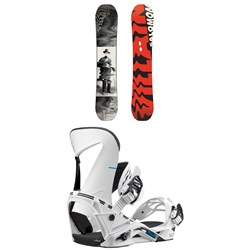 Salomon The Villain Snowboard + Salomon Hologram Snowboard Bindings 2019