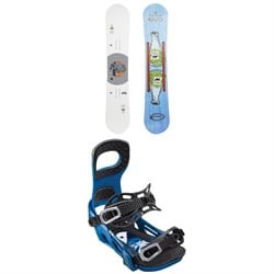 GNU T2B x evo Snowboard ​+ Bent Metal Joint Snowboard Bindings