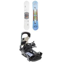 GNU T2B x evo Snowboard + Bent Metal Logic Snowboard Bindings 2019