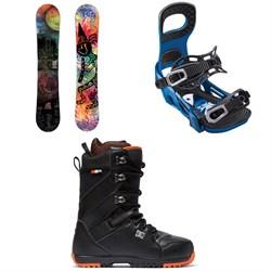 Lib Tech Box Scratcher BTX Snowboard + Bent Metal Joint Snowboard Bindings + DC Mutiny Snowboard Boots 2019