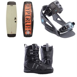 Hyperlite Ripsaw Wakeboard ​+ System Lowback Wakeboard Bindings ​+ Murray Wakeboard Boots 2019
