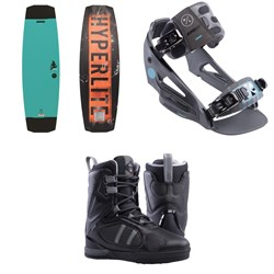 Hyperlite Ripsaw Wakeboard + System Lowback Wakeboard Bindings + Murray Wakeboard Boots