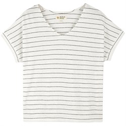 Mollusk Hemp Stripe V-Neck T-Shirt - Women's