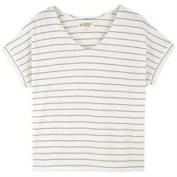 Mollusk Hemp Stripe V-Neck T-Shirt - Women's