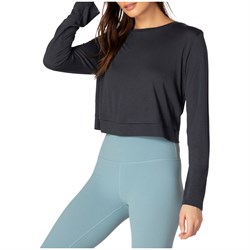 Beyond Yoga Back Out Reversible Cropped Pullover - Women's