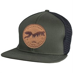 Spacecraft Wild Flat Brim Trucker Hat