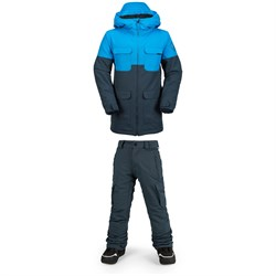 Volcom Blocked Jacket ​+ Volcom Cargo Insulated Pants - Big Boys'