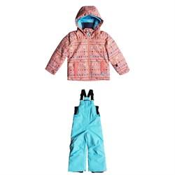 Roxy Mini Jetty Jacket + Roxy Lola Bibs - Little Girls'