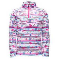 Spyder Bitsy Limitless Star Stripe Zip T-Neck Fleece - Little Girls'