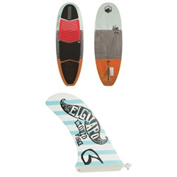 Liquid Force El Guapo Wakesurf Board ​+ FCS Single Tab Longboard Surf Fin