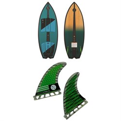 Hyperlite Automatic Wakesurf Board ​+ 4.5'' Riot Carbon Surf Fin Kit w​/ Key