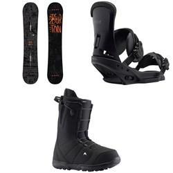 Burton Amplifier Snowboard 2018 + Custom EST Snowboard Bindings  + Moto Snowboard Boots