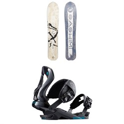 Rossignol XV Sashimi LG White Label Snowboard 2020 + Rossignol Cobra Snowboard Bindings 2019