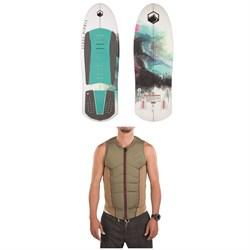 Liquid Force Sheila Wakesurf Board + Ghost Comp Wakeboard Vest