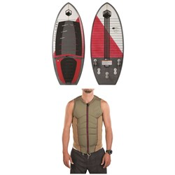 Liquid Force Dart Wakesurf Board ​+ Ghost Comp Wake Vest
