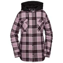 Volcom Hooded Flannel Jacket - Women's