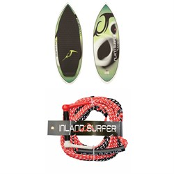 Inland Surfer Tako Wakesurf Board ​+ Leatherman 25 ft Wakesurf Rope