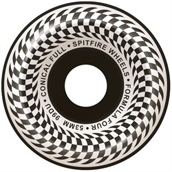 Spitfire Formula Four 99d Check Conical Full Black Skateboard Wheels