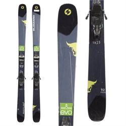 Blizzard Rustler 9 Skis + Marker Griffon 13 Demo Bindings  - Used