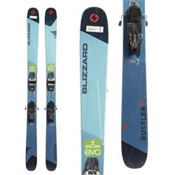Blizzard Rustler 10 Skis + Marker Griffon 13 Demo Bindings  - Used
