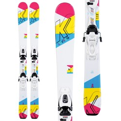 K2 Luv Bug Skis ​+ FDT 4.5 Bindings - Little Girls' 2020