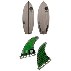 Hyperlite x Superbrand Bucket Chucker Wakesurf Board ​+ 4.5'' Riot Carbon Surf Fin Kit w​/ Key