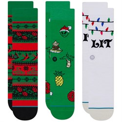 Stance Ornaments 3-Pack Crew Socks