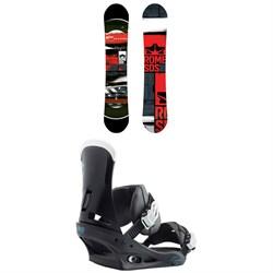 Rome Mechanic Snowboard 2018 + Burton Custom Snowboard Bindings
