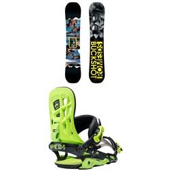 Rome Buckshot Snowboard 2017 + Rome 390 Boss Snowboard Bindings