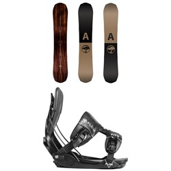 Arbor Element Snowboard ​+ Flow Five Fusion Snowboard Bindings