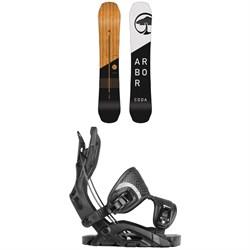 Arbor Coda Rocker Snowboard + Flow Fuse Fusion Snowboard Bindings
