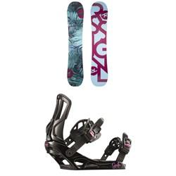 Rossignol Meraki Snowboard - Women's + Rossignol Gala Snowboard Bindings - Women's 2019