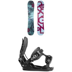 Rossignol Meraki Snowboard - Women's + Flow Haylo Snowboard Bindings - Women's