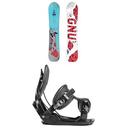 GNU Money C2E Snowboard ​+ Flow Alpha Snowboard Bindings