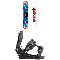 GNU Asym Velvet C2 Snowboard - Women's + Flow Haylo Snowboard Bindings - Women's