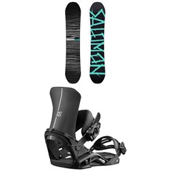 Salomon Craft X Snowboard + Salomon District Snowboard Bindings