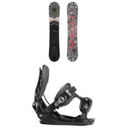 Roxy Ally Banana Snowboard - Women's + Flow Haylo Snowboard Bindings - Women's 2019
