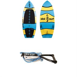 Idol Surf JC-Sig Wakesurf Board + Handle & 24 ft Surf Rope