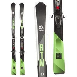 Volkl RTM 8.0 Skis + FDT TP 10 Bindings  - Used