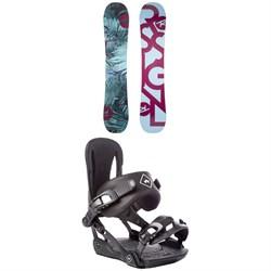 Rossignol Meraki Snowboard - Women's 2019 + Rome Strut Snowboard Bindings - Women's 2018