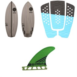 Hyperlite x Superbrand Bucket Chucker Wakesurf Board ​+ EVA Wakesurf Traction Pad ​+ 3.5'' Flux Surf Fin Set w​/ Key