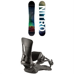 Nitro Team Exposure Gullwing Snowboard ​+ Nitro Rambler Snowboard Bindings 2019