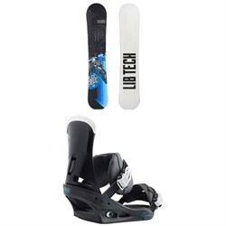 Lib Tech Terrain Wrecker C2X Snowboard + Burton Custom Snowboard Bindings 2018